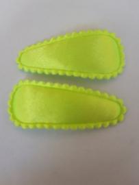 Neon geel hoesje 35 mm met klik klak speldje