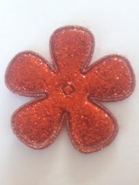 Bloem 3.5 cm rood glitter