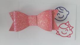 strik licht roze glitter 7 cm