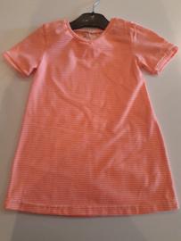 Jurkje neon roze gestreept maat 92/98 trico