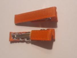 Alligator klemmen 3 cm oranje