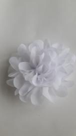 Haarbloem  11 cm wit