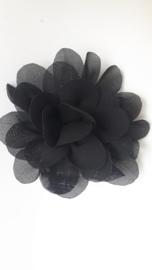 haar bloem 7 cm zwart