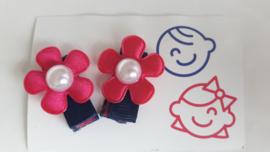 klittenband knipje roze bloem