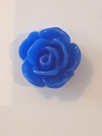 Bloem flatback blauw
