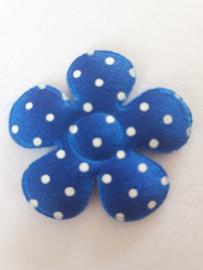 Bloem 3.5 cm blauw royale polkadot