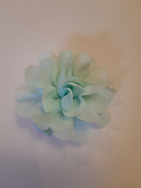 Haar bloem licht blauw 4cm