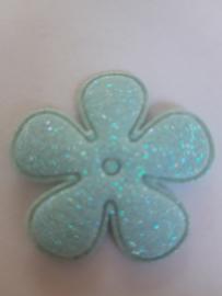 Bloem 3.5 cm blauw glitter