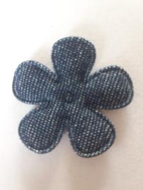 Bloem 3.5 cm spijkerbroek blauw