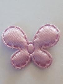 Vlinder 25 x 20 mm satijnen lila