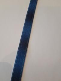 Elastisch biasband spijkerbroek met geel stiksels