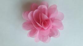 Haar  bloem roze 4cm