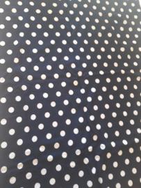 100 x 75 cm blauw polkadot