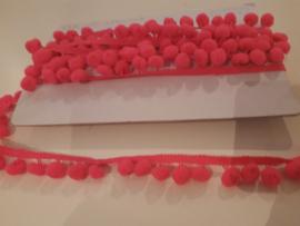 Bolletjes band neon roze