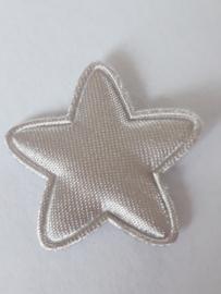 Ster applicatie 25 mm zilver