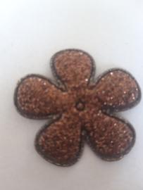 Bloem 3.5 cm bruin glitter