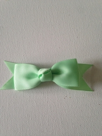 mint groen strik 10cm met alligator en anti slip