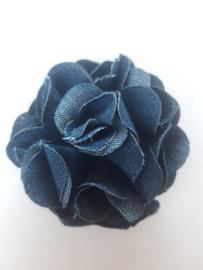Chiffon bloem 65 mm spijkerbroek blauw