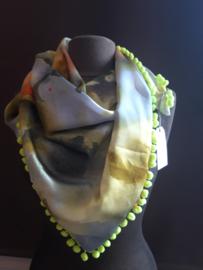 Sjaal maat L geel