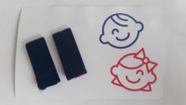 klittenband knipje effen blauw