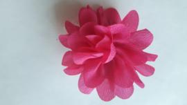 Haar bloem fuchia 4cm