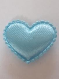 Hartjes satijn fuchia blauw 20 mm