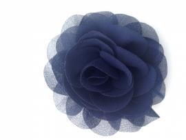 Haarbloem navy blauw 9cm