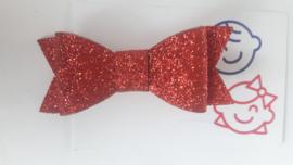 strik rood glitter 7 cm