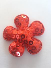 Bloem 47 mm pailletten rood