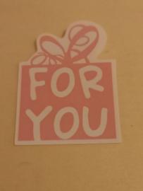 For you roze sluitsticker