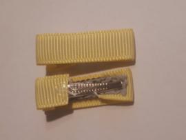 Alligator klemmen 3 cm geel
