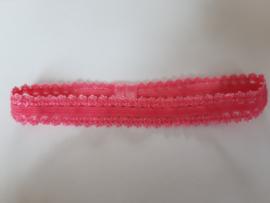 Elastieken haarbandje roze kantje