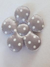 Bloem 3.5 cm grijs polkadot