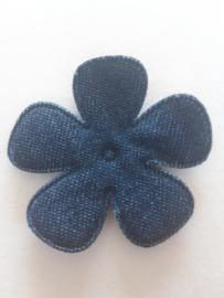 Bloem 2.5 cm spijkerbroek blauw