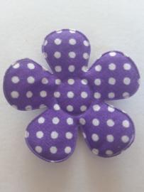 Bloem 47 mm paars polkadot