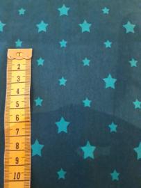 150 x 75 cm petrol met sterren