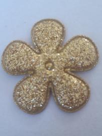 Bloem 3.5 cm goud glitter