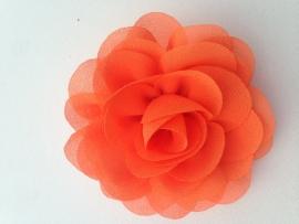 Haar bloem 9 cm oranje