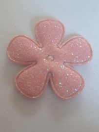 Bloem 3.5 cm roze glitter