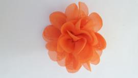 Haar bloem oranje 4cm