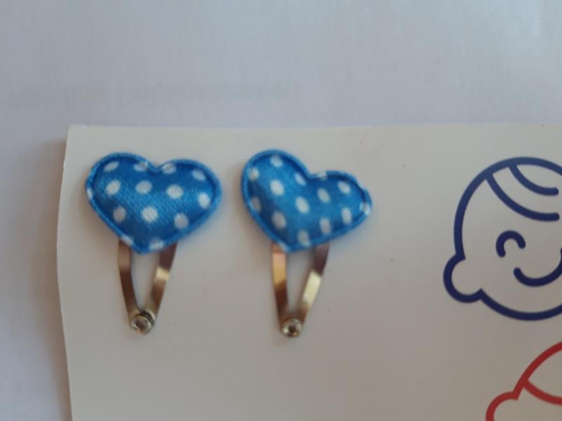 klik klak 2 cm met blauw hart