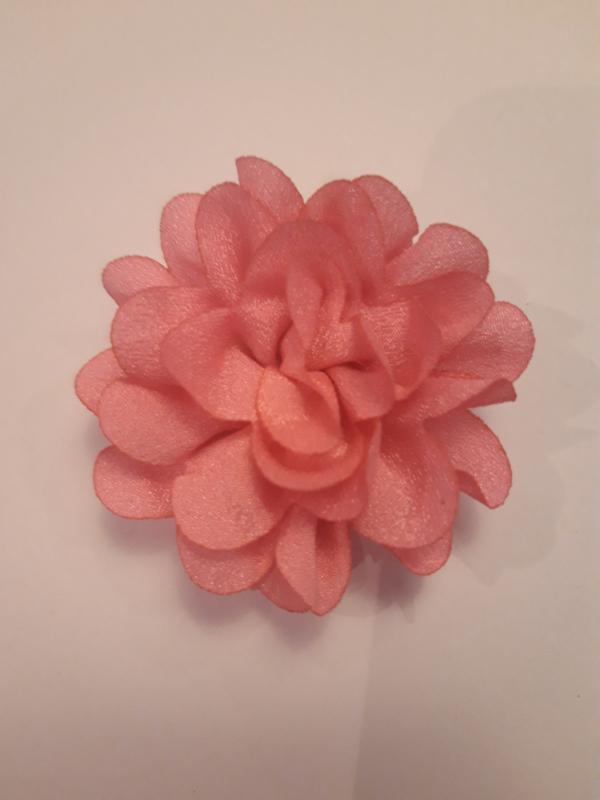 Haar  bloem roze 4cm nr2