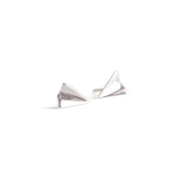 Paperplane oorbellen op wenskaart