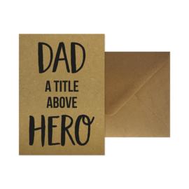 Wenskaart - Dad a title above hero