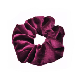 Merlot Red - Velvet scrunchie