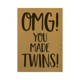 Ansichtkaart - OMG! You made twins!