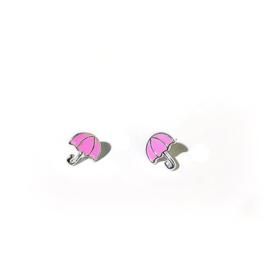 Paraplu oorbellen op wenskaart