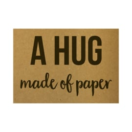 Ansichtkaart - A hug made of paper