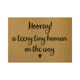 Ansichtkaart - Hooray! A teeny tiny human on the way