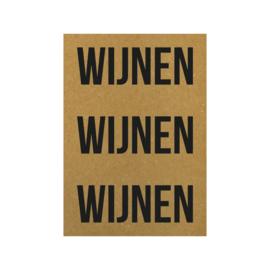 Ansichtkaart - Wijnen wijnen wijnen